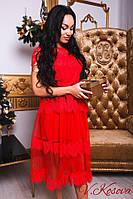 Мега красивое женское платье из фатина и кружева (разные цвета)