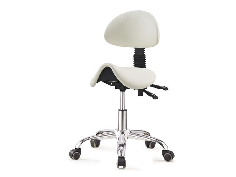 Стул-седло со спинкой ортопедический стульчик для мастеров  мод. 1037-3
