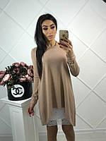 Женское оригинальное платье туника