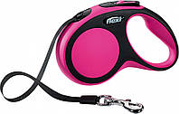 FLEXI NEW COMFORT M 5м/25кг, лента - поводок-рулетка для собак (розовая)