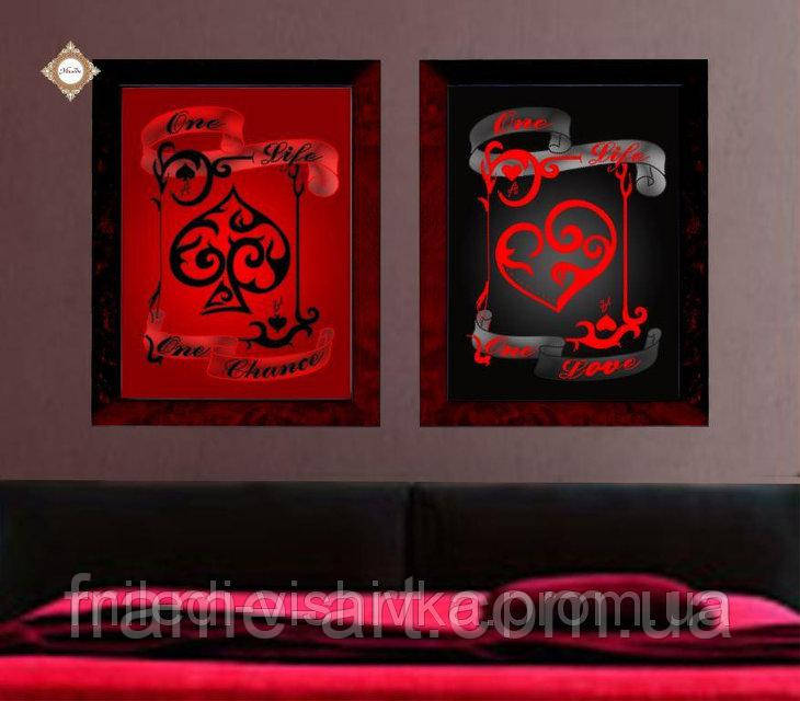 Купить Миледи СЛТ-2213 Красное и черное, схема под бисер