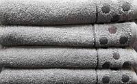 Полотенце махровое 70х140 Krugi (серый)