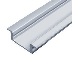 Алюминиевый профиль врезной ЛПВ7*16мм для LED ленты серебро (за 1м) Код.56629