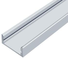 Алюмінієвий профіль ЛП7*16мм для LED стрічки срібло (за 1м) Код.56627