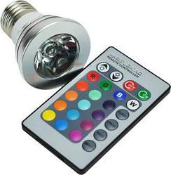 Світлодіодна лампа Spot RGB E27 з пультом Код.52587