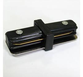 Соединитель для треков LED светильников l8-016 прямой (180*) однофазный 16A черный Код.57212