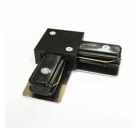 Соединитель для треков LED светильников l8-017 угловой (90*) однофазный черный Код.57213