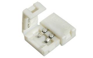 Коннектор для одноцветной светодиодной ленты №1 8мм (3528) зажим-зажим Код.57331