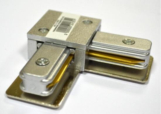 Соединитель для треков LED светильников l8-017 угловой (90*) однофазный серебро Код.57753