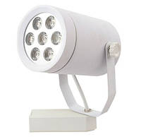Светодиодный трековый светильник 7W TR7СW 5000К цилиндрический белый Код.57956