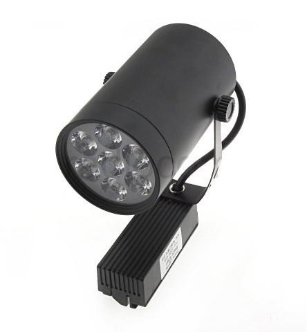 Світлодіодний світильник трековий 7W TR7WW 3000К циліндричний чорний Код.57957