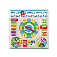 Развивающая игрушка Viga Toys Часы и Календарь (59872)