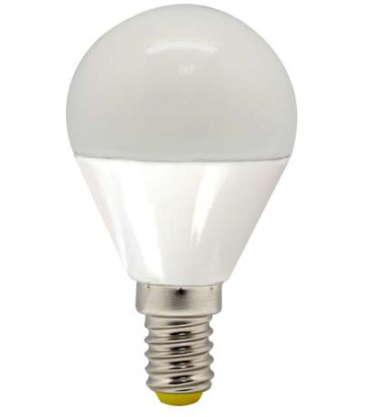 Светодиодная лампа Feron LB-95 G45 E14 5W 2700K 230V Код.58342