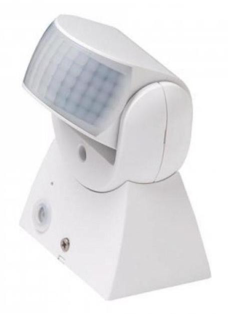 Інфрачервоний Датчик руху Lemanso LM633/652 180* білий IP44 Код.58420
