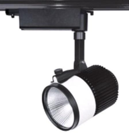 Светодиодный трековый светильник SL 30TRL/CWB 30W 6000К черный Код.58512
