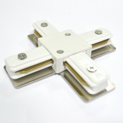 Соединитель для треков LED светильников PHS(+) крестовой однофазный 16A белый Код. 58514