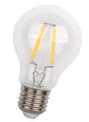 Светодиодная лампа Filament LED Biom FL-307 А60 Е27 4W 3000К 220V прозрачная Код.58592