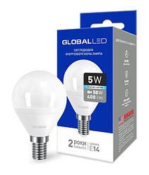 Світлодіодна лампа GLOBAL 1-GBL-144 G45 5W 4100К 220V E14-Код.58601