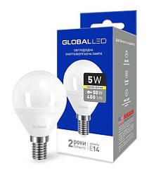 Світлодіодна лампа GLOBAL 1-GBL-143 G45 5W 3000К 220V E14-Код.58602