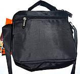 Мужская черная текстильная барсетка  на плечо 20*19 см, фото 2