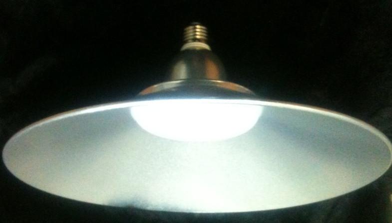 Світлодіодна лампа Lemanso LM712 50W E27 6500K IP65 з відбивачем срібло Код.58610