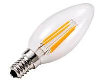 Светодиодная лампа Lemanso Filament LED LM392 4W С35 Е14 3000K (свеча, прозрачная) Код.58638
