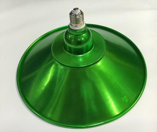 Светодиодная лампа Lemanso LM712 50W E27 6500K IP65 с отражателем зеленый Код.58717