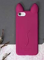 Силиконовый чехол Ушки Кошки CoCo Cat для iPhone 7/8, Марсала