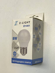 Светодиодная лампа Z- LIGHT ZL1001 8W G45 E27 4000K Код.58785