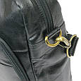 Мужская кожаная сумка-портфель Always Wild LAP 513-31254 черная, фото 6