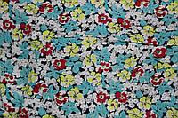 Ткань штапель мелкие цветочки