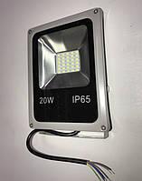 Светодиодный прожектор со встроенным датчиком движения PREMIUM SL-020D 20W 6000K IP 65 Код.57027