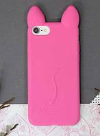 Силиконовый чехол Ушки Кошки CoCo Cat для iPhone 7/8, Розовый