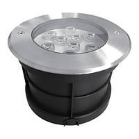 Светодиодный тротуарный линзованный светильник SP4113 9W 6400K IP67 Код.58893