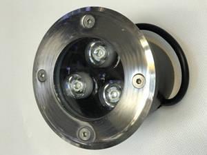 Світлодіодний тротуарний линзованный світильник LM12 3W RGB-IP65 220V Код.58899