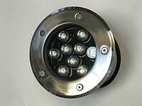 Светодиодный тротуарный линзованный светильник LM10 9W RGB IP65 220V Код.58903