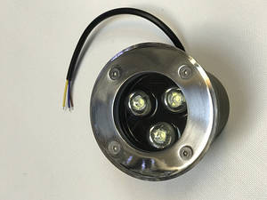 Світлодіодний тротуарний линзованный світильник LM986 3W 6500K IP65 220V Код.58898