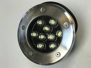 Світлодіодний тротуарний линзованный світильник LM989 9W 6500K IP65 220V Код.58904