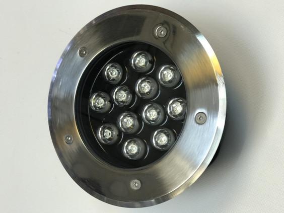 Светодиодный тротуарный линзованный светильник LM999 12W RGB IP65 220V Код.58905