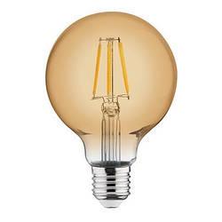 Светодиодная лампа Эдисона Filament VINTAGE GLOBE-4 4W D95 Е27 2200K (мат.золото) Код.58956