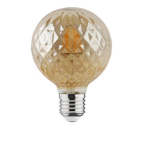 Светодиодная лампа Эдисона Filament VINTAGE TWIST-4 4W D95 Е27 2200K (мат.золото) Код.58959