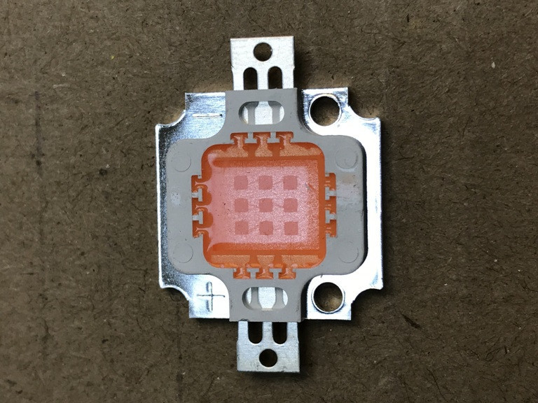 Фіто світлодіод матричний СОВ SL-10F 10W full spectrum led PREMIUM 900mA (45Х45 mil) Код.59122