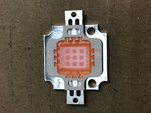 Фито светодиод матричный СОВ SL-10F 10W full spectrum led  PREMIUM 900mA (45Х45 mil) Код.59122