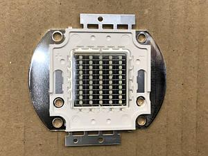 Светодиод матричный PREMIUM СОВ для прожектора SL-50 50W синий (45Х45 mil) Код.59124