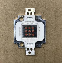 Светодиод матричный PREMIUM СОВ для прожектора SL-10 10W 300mA желтый (45Х45 mil) Код.59128