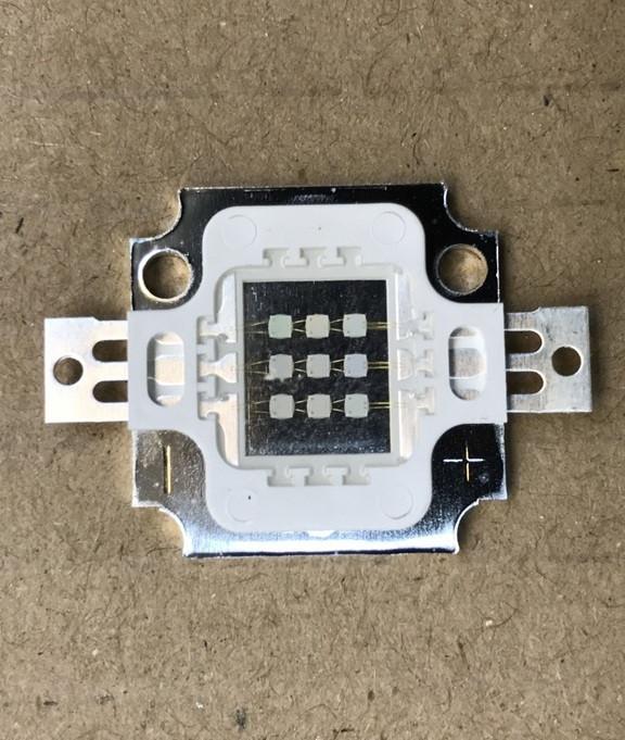Светодиод матричный PREMIUM СОВ для прожектора SL-10 10W 300mA синий (45Х45 mil) Код.59127