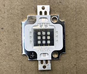Светодиод матричный PREMIUM СОВ для прожектора SL-10 10W 900mA синий (45Х45 mil) Код.59126