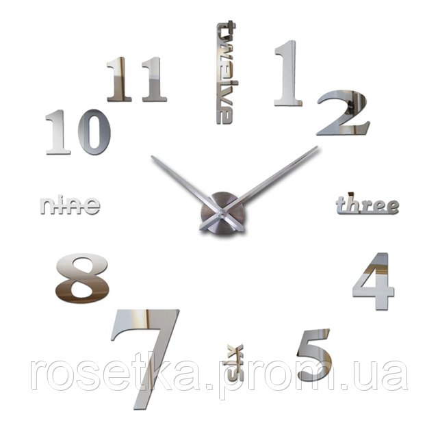 настенные 3D часы в интерьере