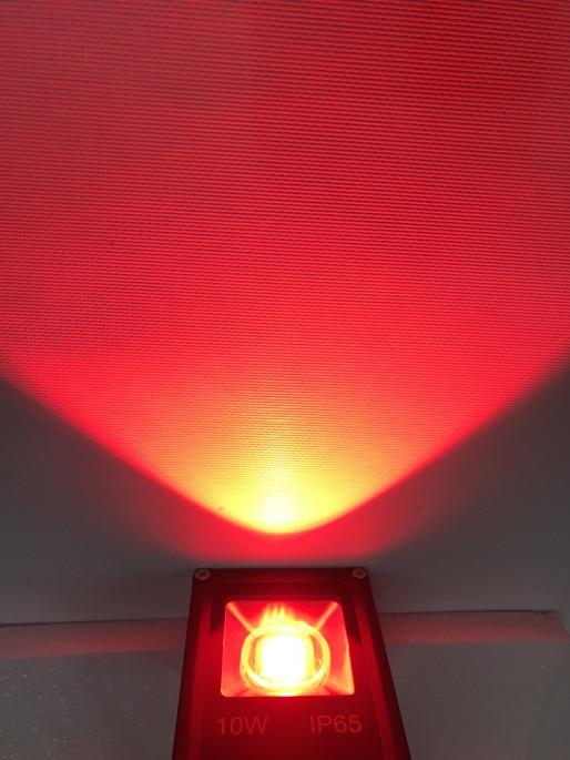 Світлодіодний линзованый прожектор SL-10Lens 10W червоний IP65 Slim Код.59141
