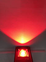 Светодиодный линзованый прожектор SL-10Lens 10W красный IP65 Slim Код.59141